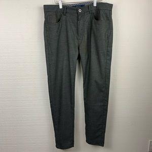 Zara Man Gray Slim Trousers, Mens
